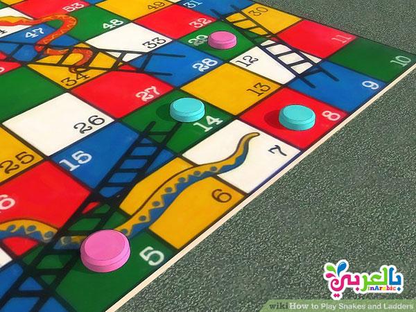 افكار ليوم الطفل العالمي - لعبة السلو الثعبان