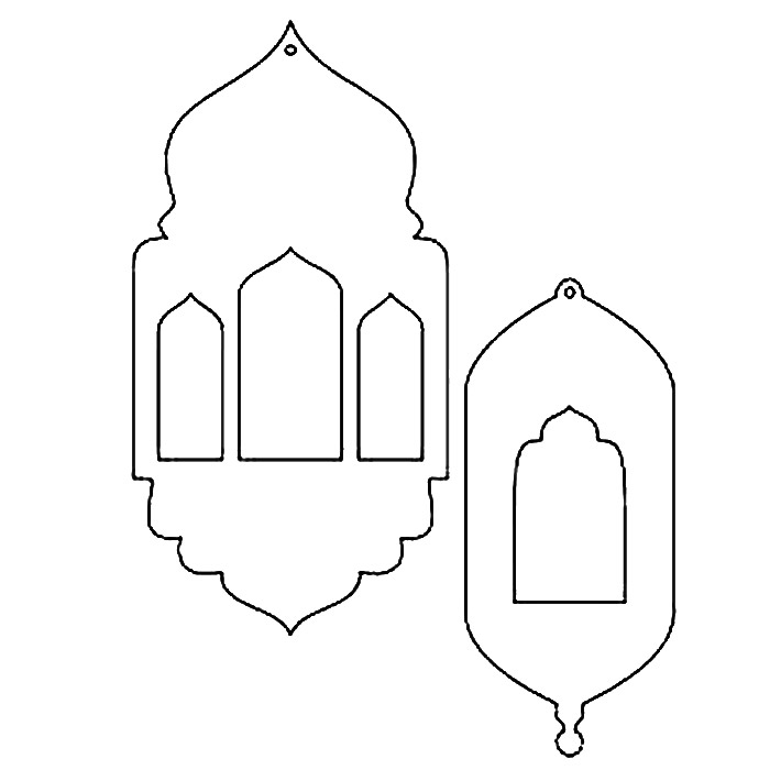 graphic regarding Lantern Template Printable named Do-it-yourself Ramadan Lanterns - do it yourself ramadan decorations printable