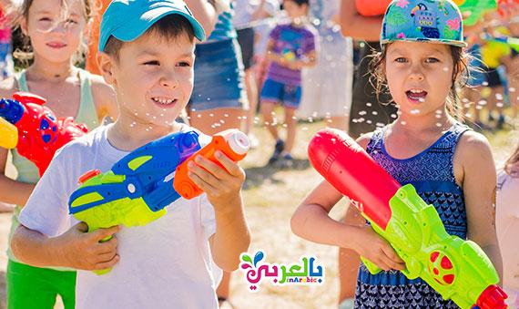 10 أفكار جديد لألعاب مائية مع الأطفال