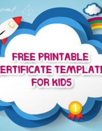 Free Printable certificate template for kids