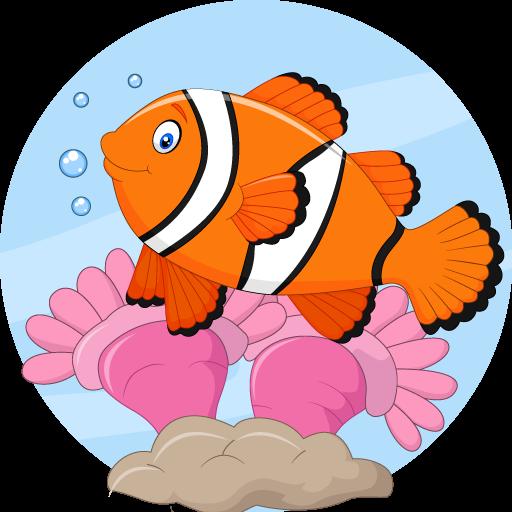 العاب تلوين اسماك fish coloring pages