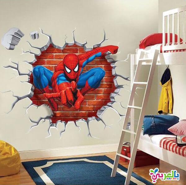 ورق جدران اطفال 3D اسبيدر مان