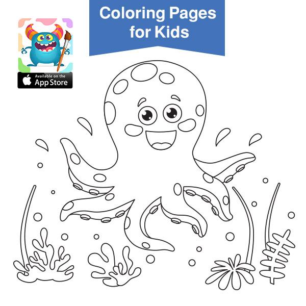 صور حيوانات للتلوين - cute baby animals coloring pages printable