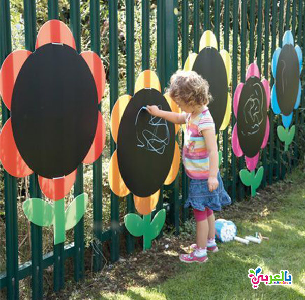 لعبة الرسم للاطفال - انشطة وألعاب خارجية للاطفال الصغار