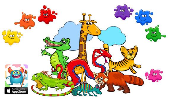 صور حيوانات للتلوين :: رسومات اطفال- cute baby animals coloring pages printable