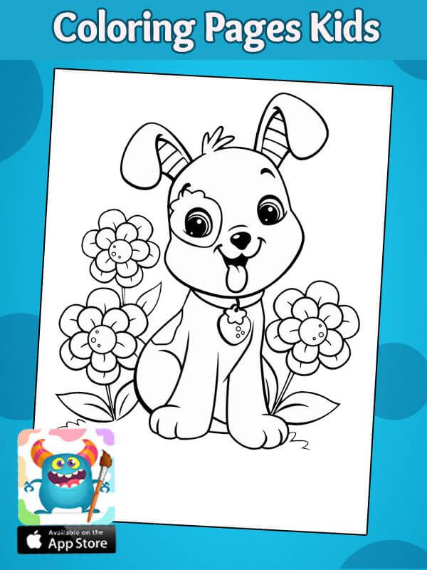 تلوين كلب للاطفال رسومات اطفال