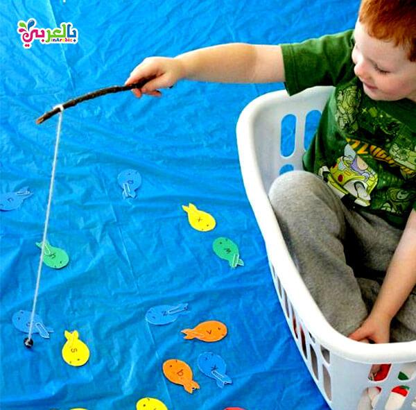 لعبة الصيد للاطفال و انشطة وألعاب خارجية للاطفال الصغار
