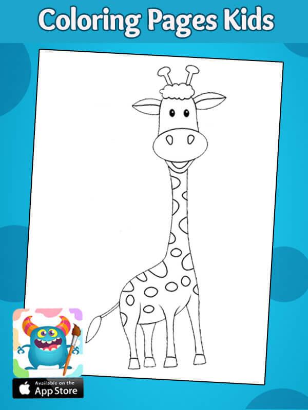 رسومات اطفال تلوين حيوانات تلوين زرافة