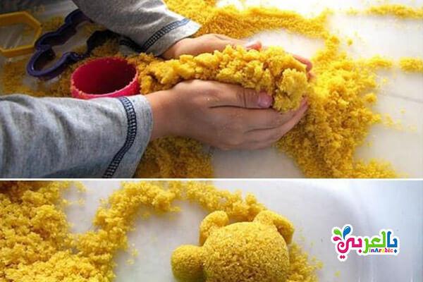 انشطة فنية لاطفال الروضة : تشكيل الرمل