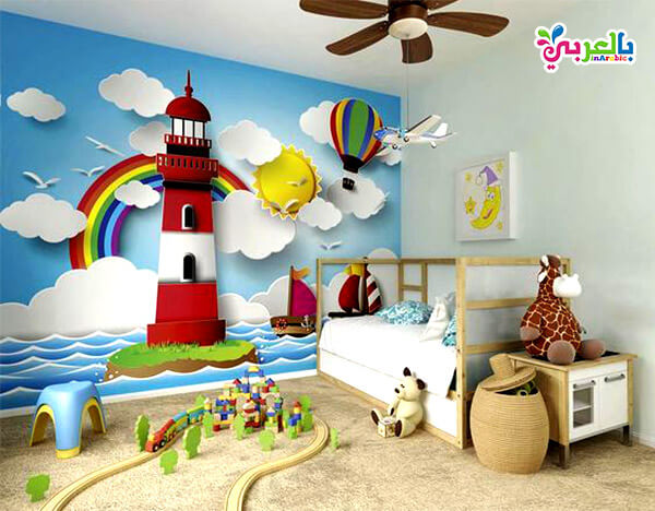 دهانات غرف اطفال اولاد - الوان غرف نوم اطفال جديدة