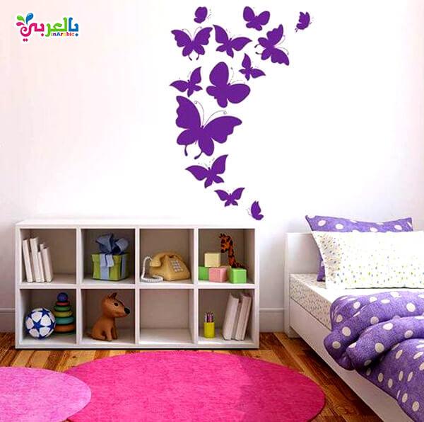 دهانات غرف اطفال حديثة - اشكال طبعات على الجدران