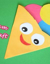 انشطة يدوية للصيف - صنع ايس كريم من الورق الملون - paper ice cream cone