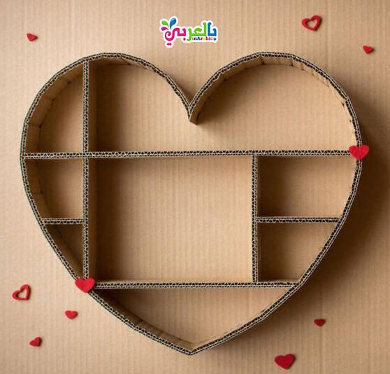 اعمال فنية بسيطة من الكرتون : مكتبة بالكرتون - cardboard easy paper crafts for kids