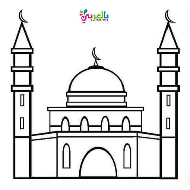 رسم المسجد النبوي للتلوين