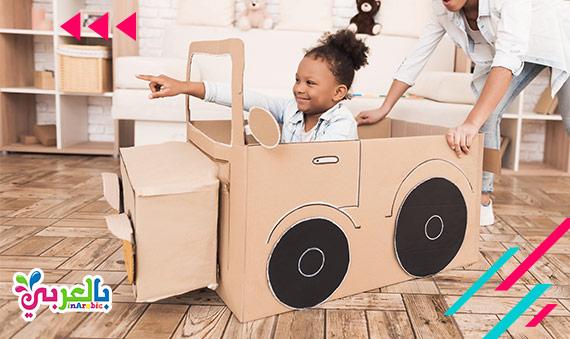 21 فكرة اعمال يدوية للاطفال بالكرتون - cardboard easy paper crafts for kids