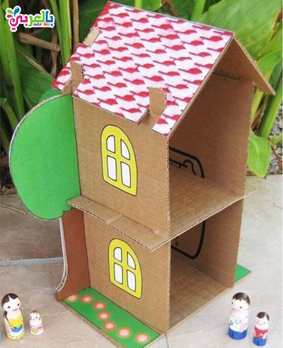 أعمال فنية للاطفال بالورق المقوى 2019 - cardboard easy paper crafts for kids
