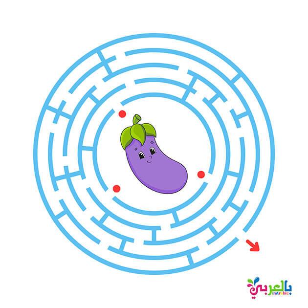 نشاط لعبة المتاهة للطباعة للاطفال