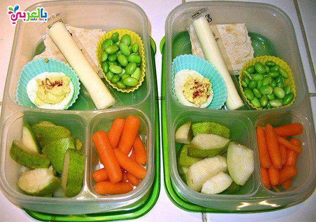 افكار لانش بوكس : وجبات غداء للاطفال