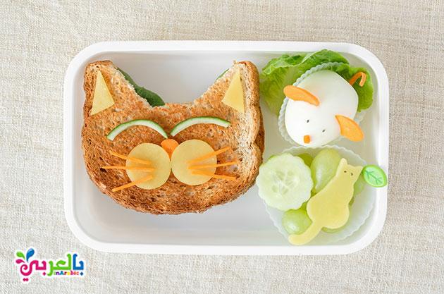 وجبات خبرز التوست لاطفال الروضة - افكار لوجبات الاطفال في الروضه