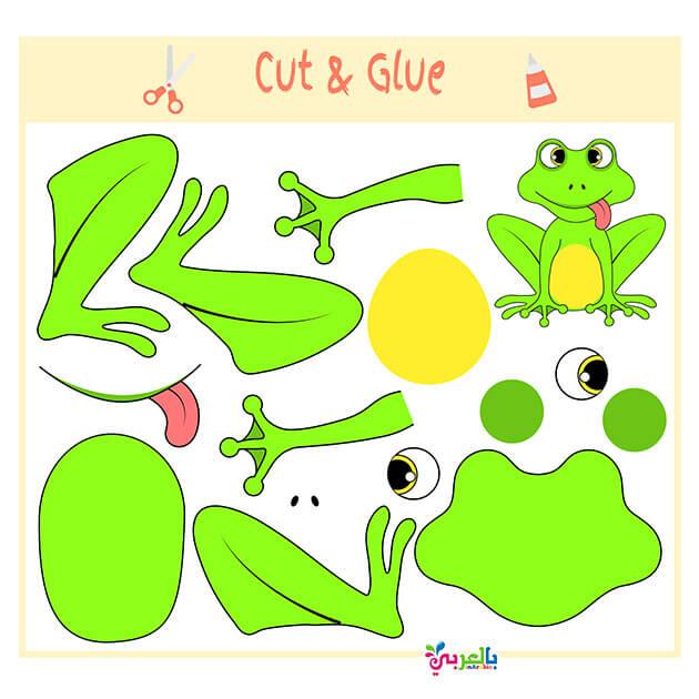 العاب قص ولصق للاطفال جاهزة للطباعة Free Printable Puzzle game for kids