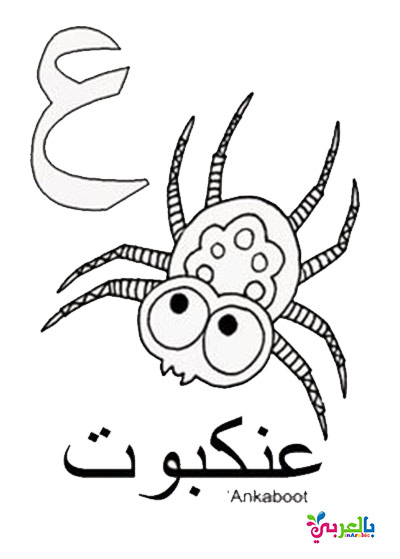 اوراق عمل الحروف العربية للطباعة