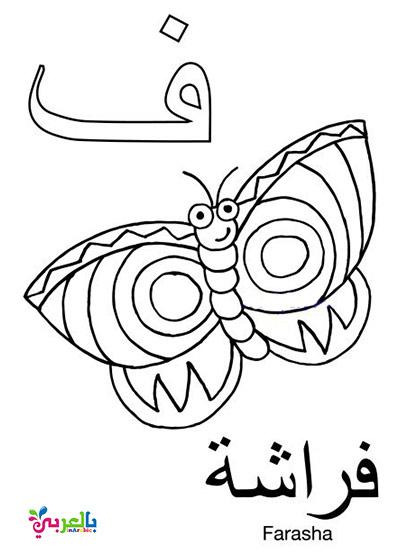 اوراق تلوين الحروف العربية واسماء الحيوانات - اوراق عمل