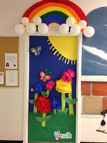 افكار جديدة لتزيين باب الفصل للاطفال