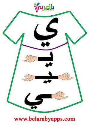 أشكال الحروف العربية حسب موقعها من الكلمة