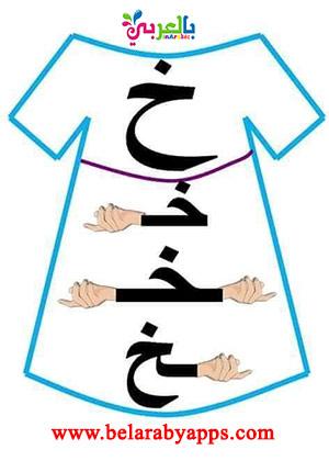 أشكال الحروف حسب موقعها من الكلمة