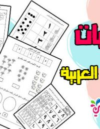 تدريبات الارقام العربية لرياض الاطفال :: أوراق عمل للطباعة