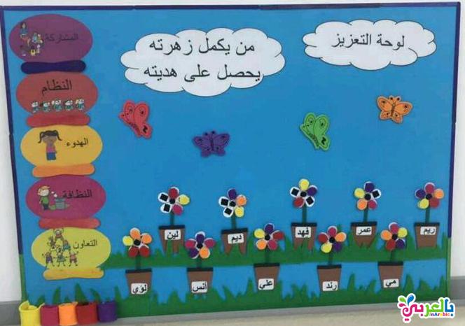 افكار لوحات لتعزيز السلوك الايجابي للطالبات