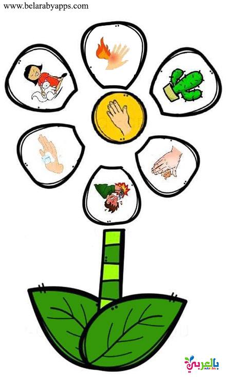 حاسة اللمس - لعبة الحواس الخمسة للاطفال