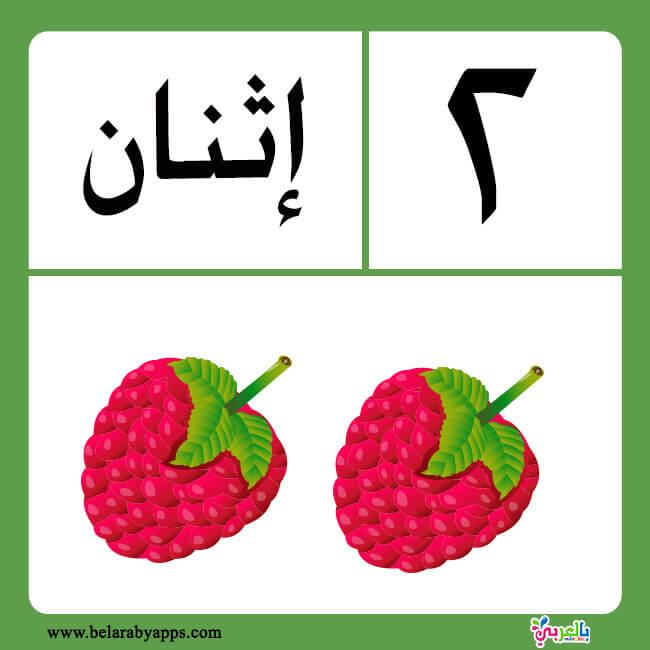 بطاقات الارقام العربية من 1 الى 20