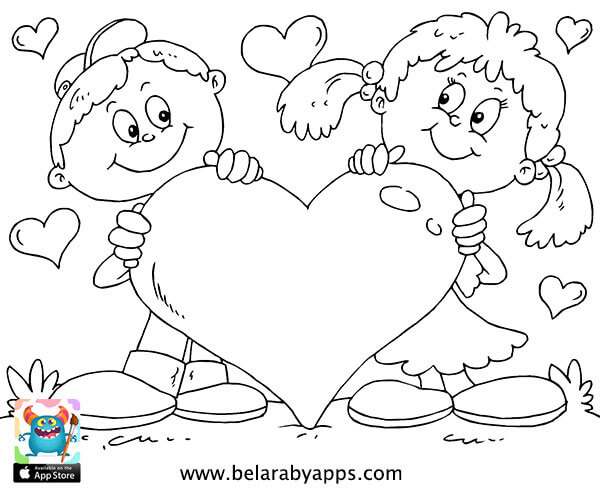 رسومات تلوين عن الطفولة جاهزة للطباعة