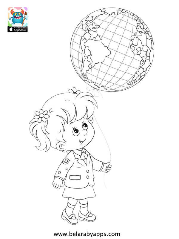 اوراق عمل تلوين للاطفال جاهزة للطباعة - Free children's day coloring pages