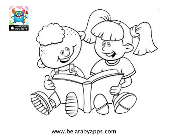 رسومات للتلوين للأطفال : يوم الطفل
