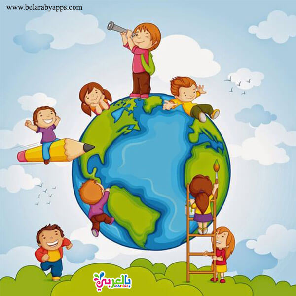 رسومات اعياد الطفولة - Children's day greeting cards free - Children's day wishes