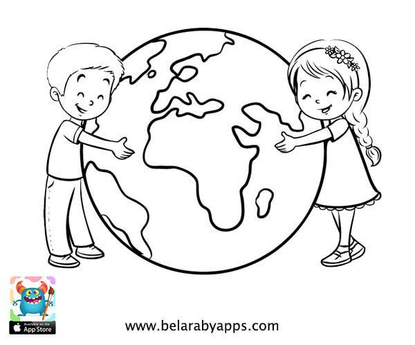 أوراق عمل يوم الطفل العالمي 2019 للتلوين - Free children's day coloring pages