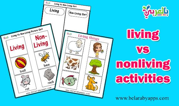 living vs nonliving activities for kindergarten