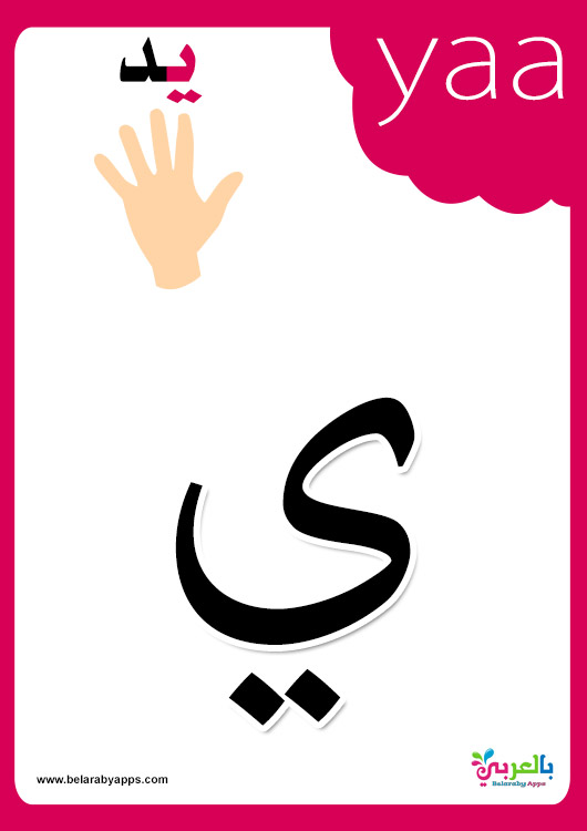 Arabic alphabet flashcards printable