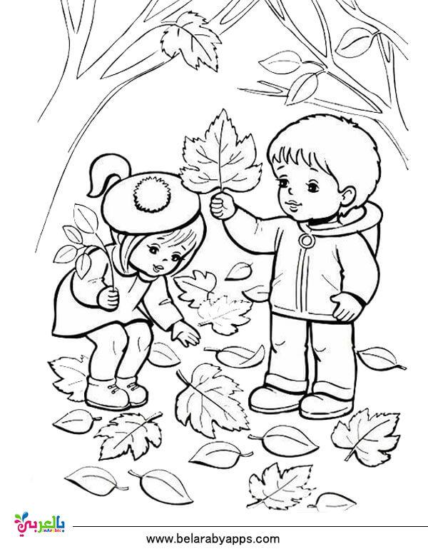 رسومات للتلوين عن فصل الخريف