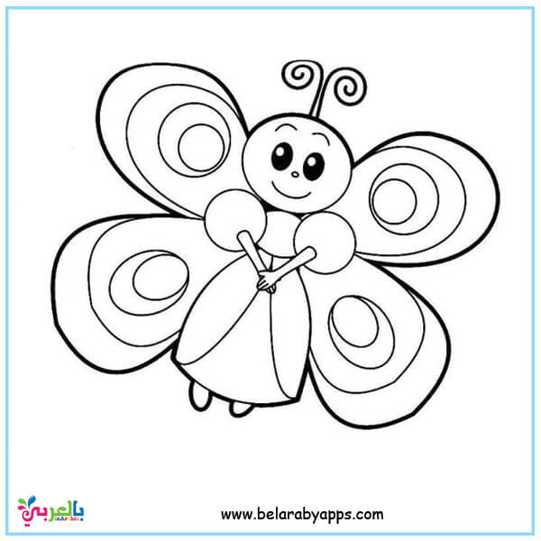 cute butterfly coloring pages printable free