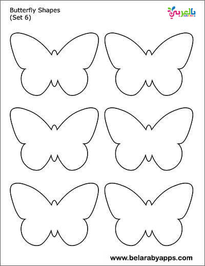 butterfly shapes -easy shapes to cut out
