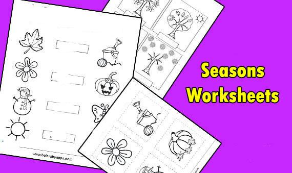 Free seasons worksheets for kindergarten