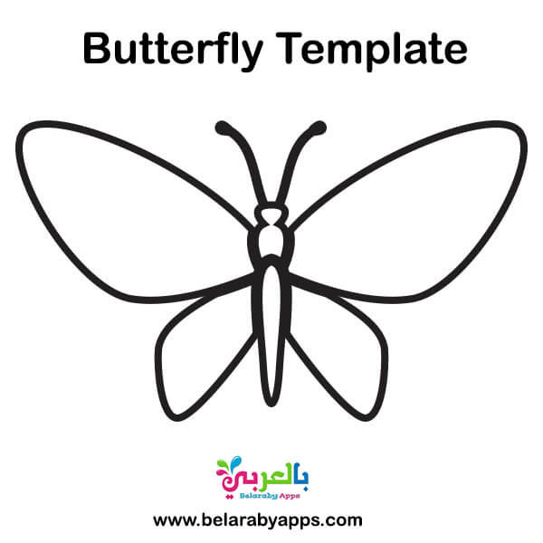 butterfly outline template printable