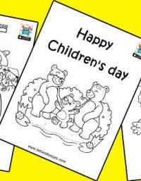 رسومات للتلوين عن عيد الطفولة - افكار يوم الطفل