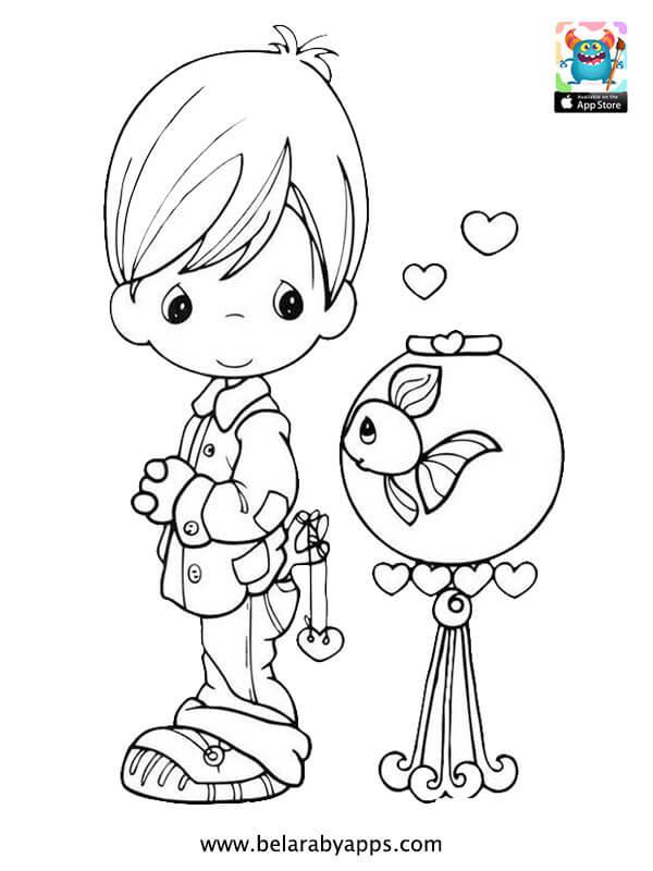 رسومات للتلوين عن عيد الطفولة - Free children's day coloring pages