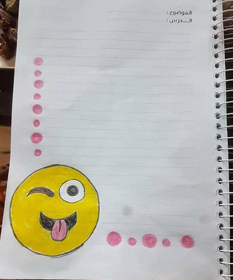 صور تزيين كراسات اطفال - أجمل الرسومات على الدفتر المدرسي