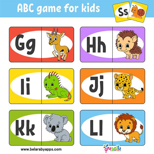 بطاقات الحروف الانجليزية مع الصور