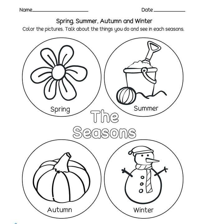 teaching the four seasons